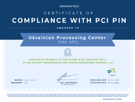 UPC confirmed compliance with PCI PIN Security Standards user/common.seoImage